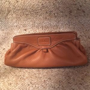 Cole Haan Tan Leather Clutch